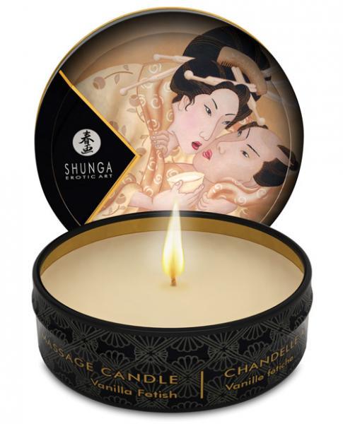 Shunga Desire Mini Massage Candle Vanilla 1oz