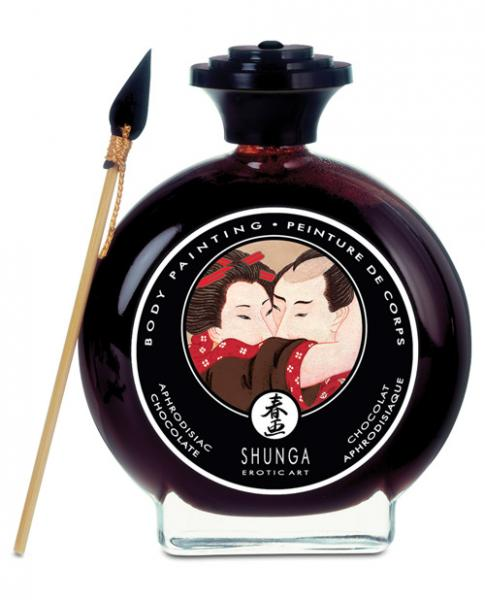 Shunga Edible Body Paint Aphrodisiac Chocolate 3.5oz