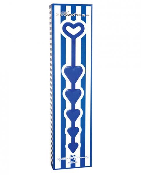Heart Shaped Anal Beads Blue