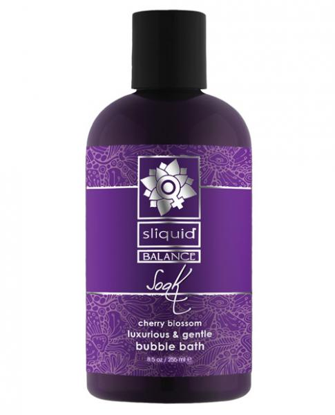 Sliquid Balance Soak Bubble Bath Cherry Blossom 8.5oz