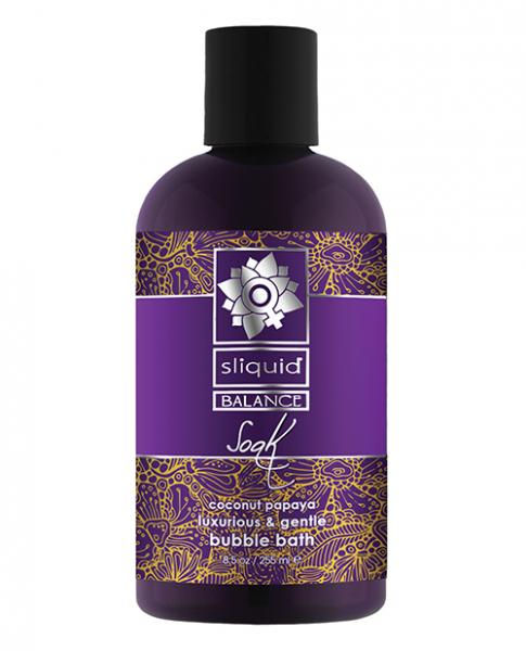 Sliquid Balance Soak Bubble Bath Coconut Papaya 8.5oz