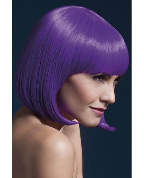 Smiffy Fever Wig Elise Sleek Bob with Bangs 13 inches Purple