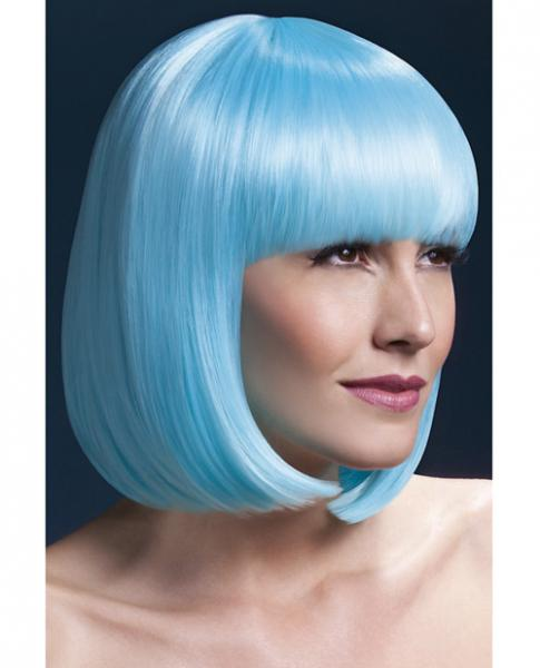 Smiffy Fever Wig Elise Sleek Bob with Bangs 13 inches Blue