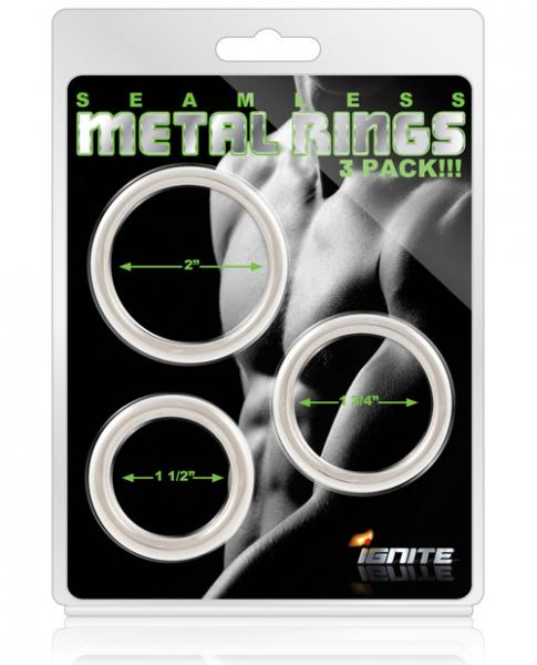 Seamless Metal Rings 3 Pack