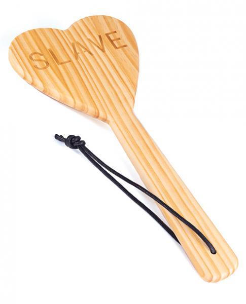 Spartacus Wood Paddle Heart Shape - Slave