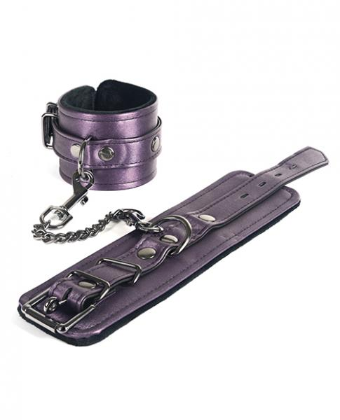 Spartacus Galaxy Legend Faux Leather Ankle Restraints Purple
