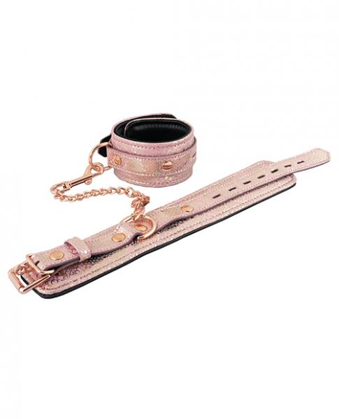 Spartacus Wrist Restraints Leather Lining Pink