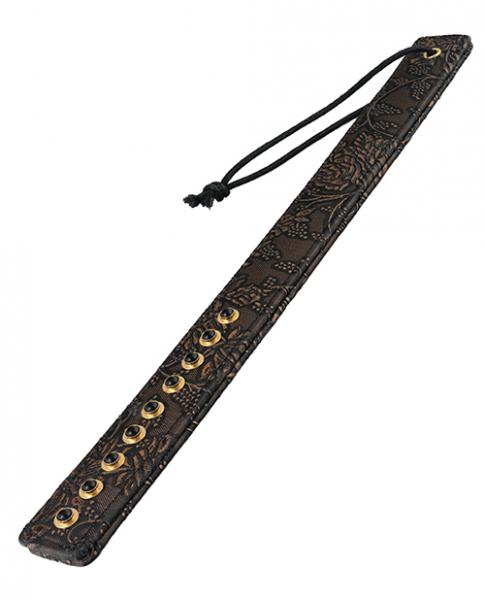 Spartacus Paddle with Gems Brown Floral Print