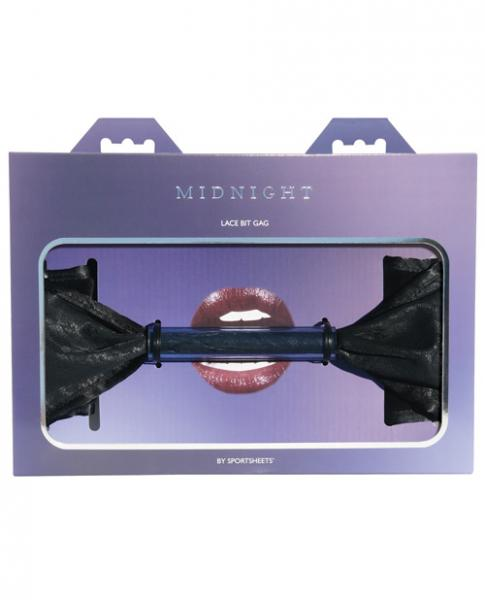 Midnight Lace Bit Gag Black O/S