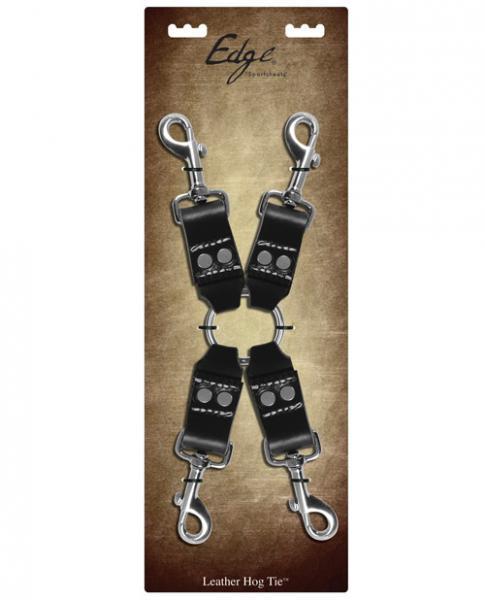 Sportsheets Edge Leather Four Point Hog Tie
