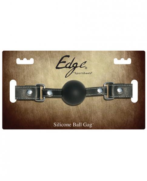 Edge Silicone Ball Gag Black O/S