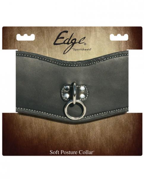 Edge Soft Leather Posture Collar Black O/S