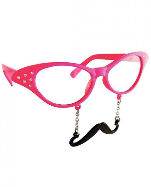 Sun Staches Cat Eye Rhinestones Sunglasses