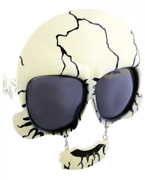 Sun Staches Skull Sunglasses