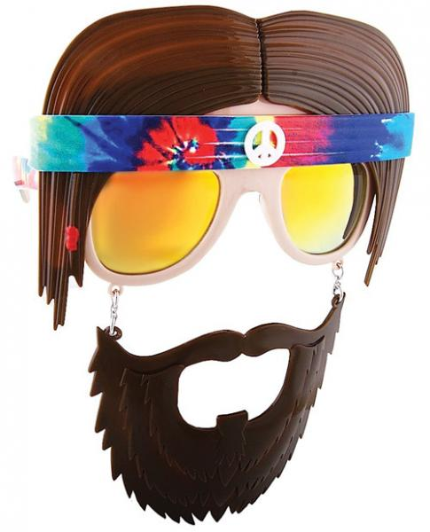 Hippie Sun Stache Glasses