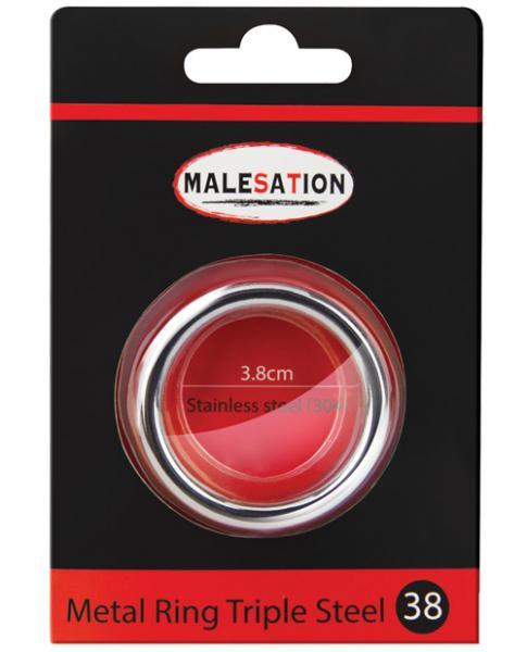 Malesation Nickel Free Steel Triple Ring 38mm