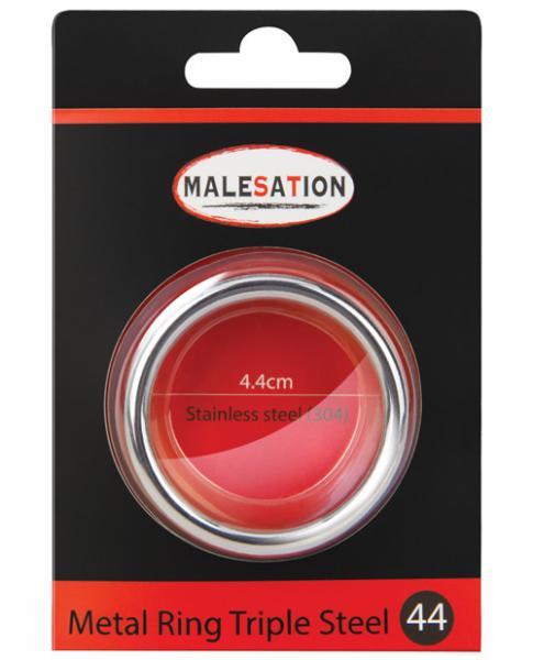 Malesation Nickel Free Steel Triple Ring 44mm