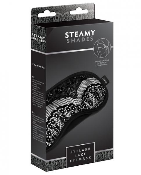 Steamy Shades Eyelash Lace Eyemask Black O/S