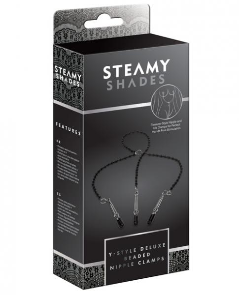 Steamy Shades Y-Style Deluxe Beaded Nipple Clamps
