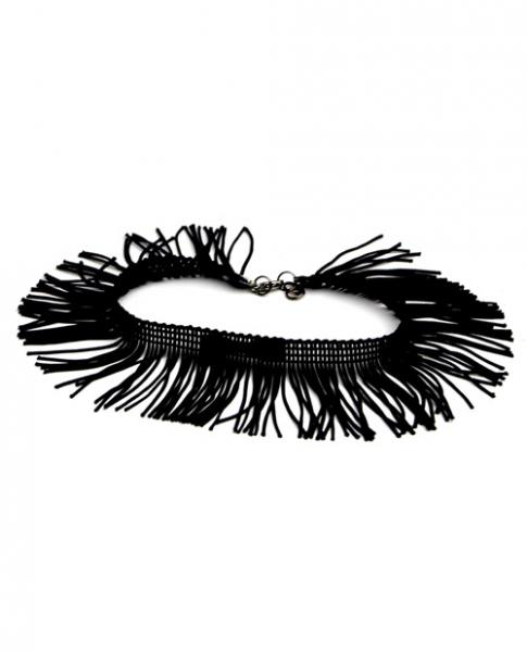 Tyes By Tara Fringe Benefits Bowtye Black Choker