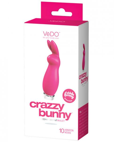 Crazzy Bunny Rechargeable Bullet Pretty In Pink
