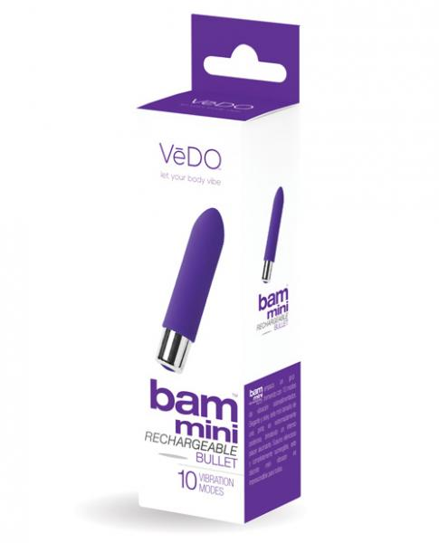 Vedo Bam Mini Bullet Vibrator Indigo Purple
