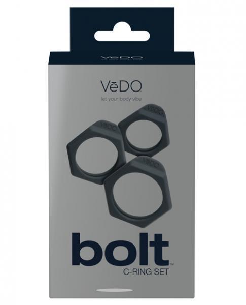 Vedo Bolt C-Ring Set Just Black 3 Pack