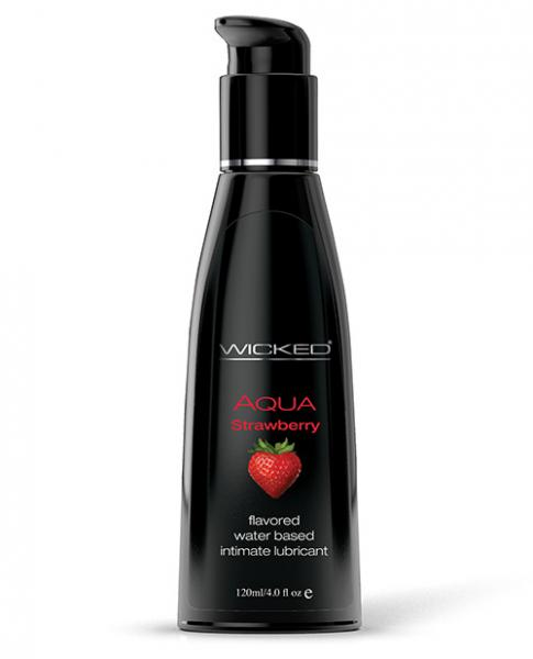 Wicked Aqua Lubricant Strawberry 4 fluid ounces