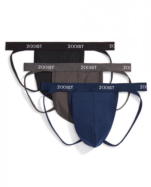 2xist 3 Pack Micro Speed Dri Jock Strap Black, Charcoal & Navy XL