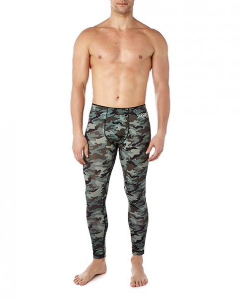 2xist Performance Leggings Green Camo Large