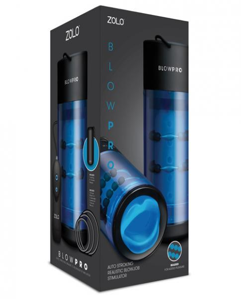 Zolo Blowpro Auto Stroking Blowjob Stimulator Blue