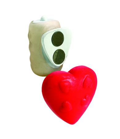 Vibrating Panty Pal  - Heart - Red