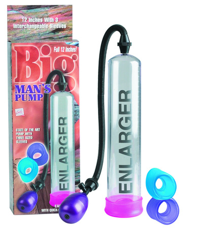 Big Man's Penis Pump 12 Inches Clear