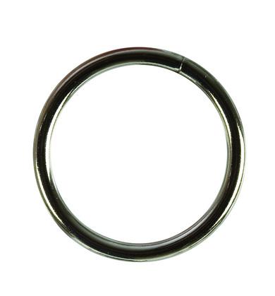 Metal ring large - silver