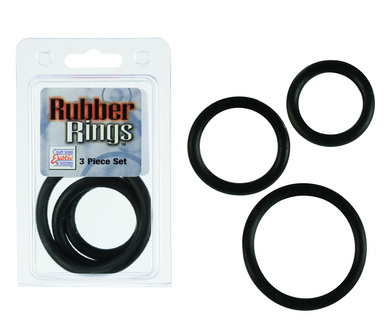 Rubber Ring - Black 3 Piece Set