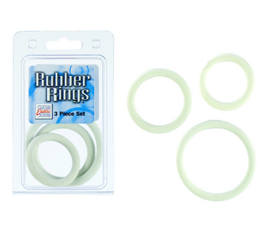 Rubber Ring - White 3 Piece Set