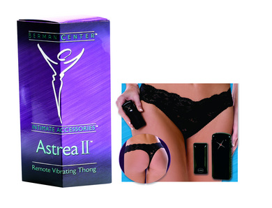 Berman  Astrea ii remote vibrating thong black