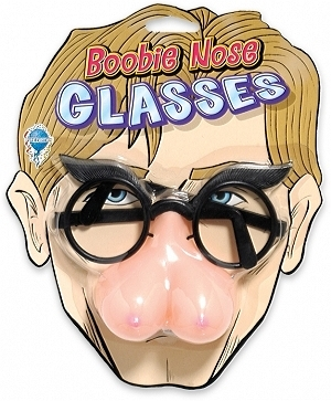 Phoney face boobie glasses