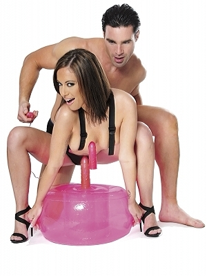 Fetish Fantasy Series Inflatable Pink Hot Seat