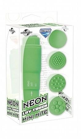 Neon Luv Touch Mini Mite Massager Waterproof - Green
