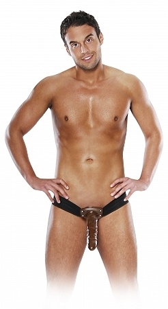 "10"" Chocolate Dream Hollow Strap-On"