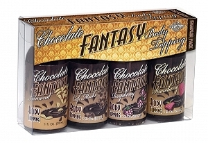 Chocolate Fantasy Body Topping Sampler 4 Pack 1oz Bottles