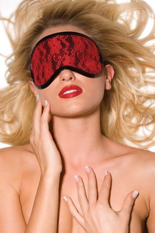 Heartbreaker Vinyl and Lace Blindfold