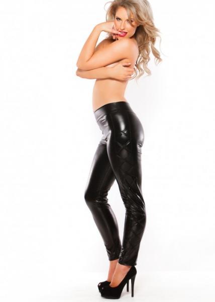 Kitten Wet Look Leggings Black OS