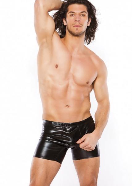 Zeus Men's Wet Look Shorts O/S