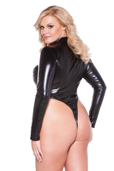 Kitten Naughty Bodysuit Black Queen