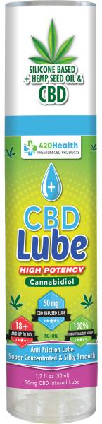 420 Health CBD Silicone Lube 1.7 fluid ounces Bottle
