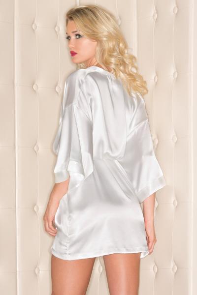 Satin Robe White Large