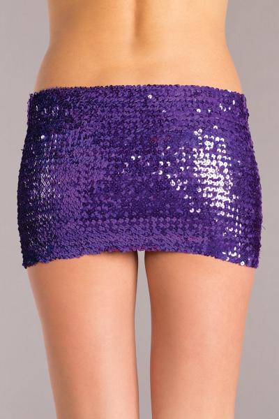 Purple Sequin Skirt Medium