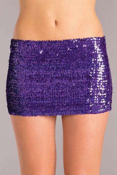 Purple Sequin Skirt Small